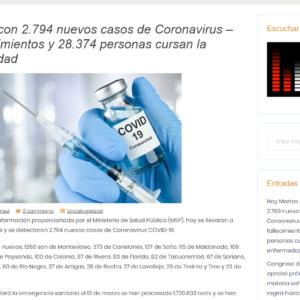 FireShot Capture 409 - Sábado con 2.794 nuevos casos de Coronavirus – 56 fallecimientos y 28_ - radiopiriapolis.uy
